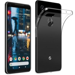 Google Pixel 3 Stötdämpande Silikon Skal Simple® Transparent