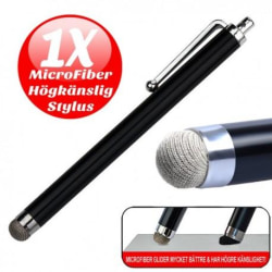 Högkänslig stylus / touchpenna / pekpenna mobil & surfplatta Svart