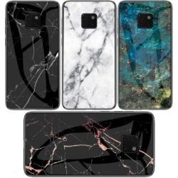 Huawei Mate 20 Pro Marmorskal 9H Härdat Glas Baksida Glassback®  Transparent Variant 4