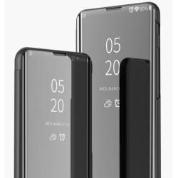 Huawei Nova 5T Smart Flipfodral Clear View Standing V2 Rocket® Black