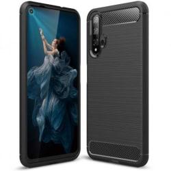 Huawei Nova 5T Stöttåligt Skal SlimCarbon® Black