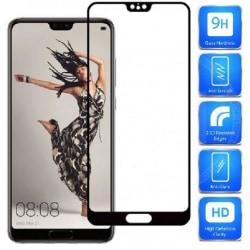 Huawei P20 FullFrame® 0.26mm 2.5D 9H Härdat Glas Svart
