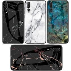 Huawei P20 Pro Marmorskal 9H Glas Baksida Glassback® V2 Green Variant 3