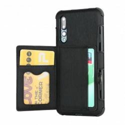 Huawei P20 Pro Stöttåligt Skal med Kortplats 4FACK Streetwise V3 Black