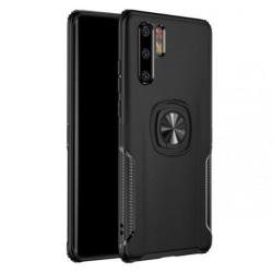 Huawei P30 Pro Praktisk Stöttåligt Skal med Ringhållare V5 (VOG- Black