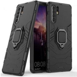 Huawei P30 Pro Stöttåligt Skal med Ringhållare ThinArmor® Svart