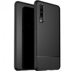 Huawei P30 Stöttåligt Skal FullCarbon® Svart