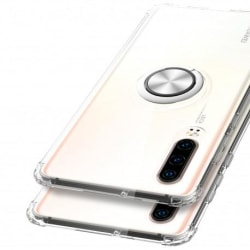 Huawei P30 Stöttåligt Skal med Ringhållare Fresh® Transparent