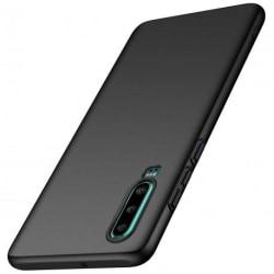 Huawei P30 Ultratunn Gummibelagd Mattsvart Skal Basic® V2 Black