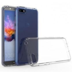 Huawei Y6 2018 Stötdämpande Skal med Repfri Plexiglas Glassback® Transparent