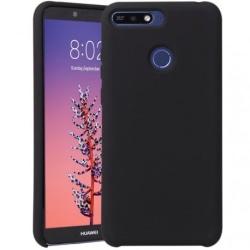 Huawei Y6 2018 Ultratunn Mjukt Gummibelagd Mattsvart Skal Svart