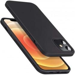 iPhone 12 Mini Ultratunn Mjukt Gummibelagd Mattsvart Skal Black