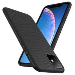 iPhone 12 Mini Ultratunn Stöttåligt Skal FullCarbon® V3 Svart