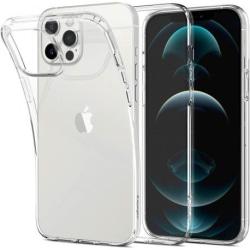 iPhone 12 Pro Max Stötdämpande Silikon Skal Simple® Transparent