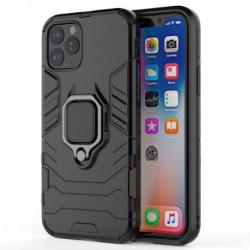 iPhone 12 Pro Max Stöttåligt Skal med Ringhållare ThinArmor® Svart
