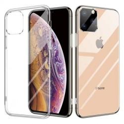 iPhone 12 Pro Stötdämpande Skal 9H Härdat Glas Baksida Glassback Transparent