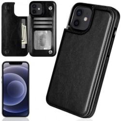 iPhone 12 Stöttåligt Skal Korthållare 3-FACK Flippr® Svart