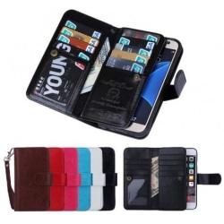iPhone 5/5S/SE Praktiskt Plånboksfodral 2in1 med 8-Fack Loop® Svart