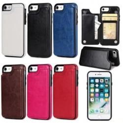 iPhone 5/5S/SE Stöttåligt Skal Korthållare 3-FACK Flippr® Svart