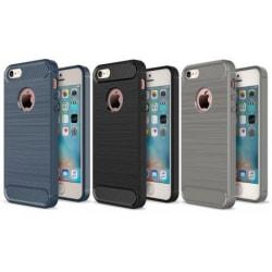 iPhone 5/5S/SE Stöttåligt Stötdämpande Skal SlimCarbon® Svart