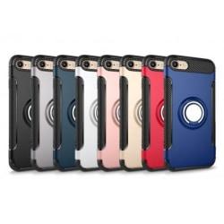 iPhone 6/6S Praktisk Stöttåligt Skal med Ringhållare V2 Svart