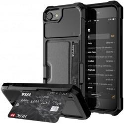 iPhone 6/6S Stöttåligt Skal med Kortfack Solid® V2 Svart