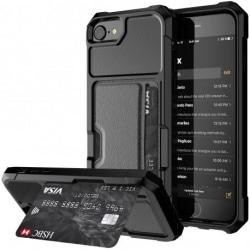 iPhone 6 / 6S Stötsäkert skal med kortspår Solid® V2 Svart