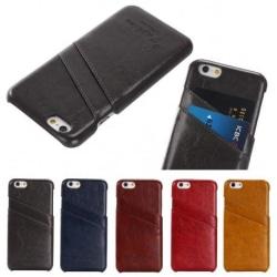iPhone 6S Plus Stötdämpande Korthållare Retro® Svart
