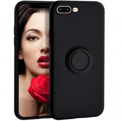 iPhone 7 Plus / 8 Plus Stöttåligt Skal med Ringhållare CamShield Svart