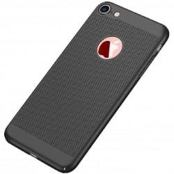 iPhone 8 Stötdämpande Ultratunn Gummibelagd Skal Breeze® Svart
