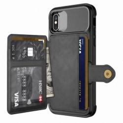 iPhone X Stöttåligt Premium Skal 4-FACK Solid® V3 Svart