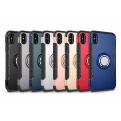 iPhone XR Praktisk Stöttåligt Skal med Ringhållare V2 Svart