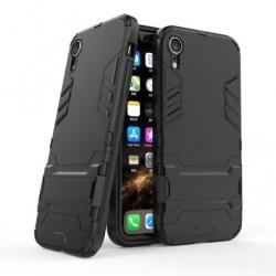 iPhone XR Stöttåligt Skal med Kickstand ThinArmor® Svart