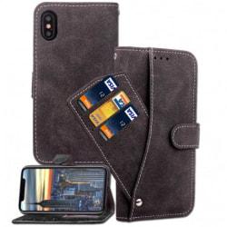 iPhone XS Max Praktisk Plånboksfodral med 7-FACK Pharah® Svart