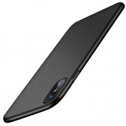 iPhone XS Max Ultratunn Gummibelagd Mattsvart Skal Basic® V2 Svart