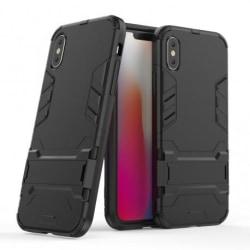 iPhone XS Stöttåligt Skal med Kickstand ThinArmor® Svart