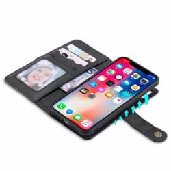 iPhone XS / X Praktiskt Fodral med Magnetskal 6-Fack Winston® V2 Svart