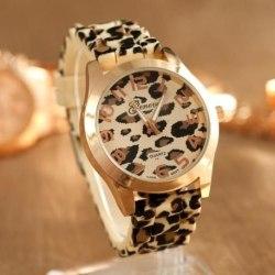 Leopardmönstrad Klocka | Dam Svart