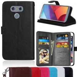 LG G6 Praktisk Plånboksfodral med 11-Fack Array® Svart