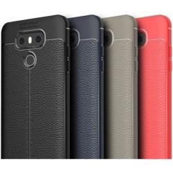 LG G6 Stöttåligt & Stötdämpande Skal LeatherBack® Svart
