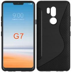 LG G7 ThinQ Ultratunn Stötdämpande Skal S-Line® Svart