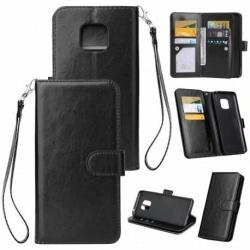 Mate 20 Pro Praktisk Plånboksfodral med 10-Fack Array® Svart