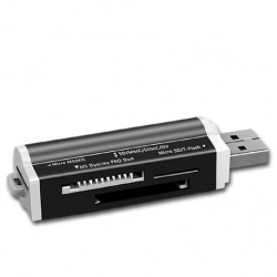 Minneskortläsare USB All-In-One / Svart Svart