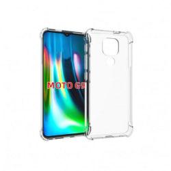 Motorola Moto E7 Plus Stötdämpande Silikon Skal Shockr® Transparent