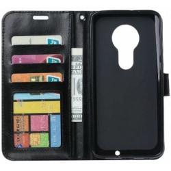 Motorola Moto G7 Plus Plånboksfodral PU-Läder 4-FACK Black