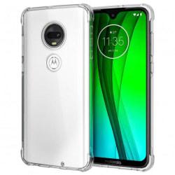 Motorola Moto G7 Plus Stötdämpande Silikon Skal Shockr® Transparent