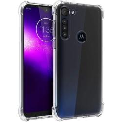 Motorola Moto G8 Power Stötdämpande Silikon Skal Shockr® Transparent