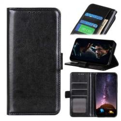 Motorola One Hyper Plånboksfodral PU-Läder 4-FACK Black