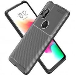 Motorola One Hyper Stöttåligt Skal FullCarbon® V4 Black