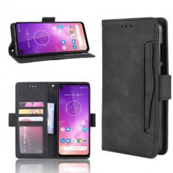 Motorola One Vision Plånboksfodral PU-Läder 6-FACK Winston® V3 Black
